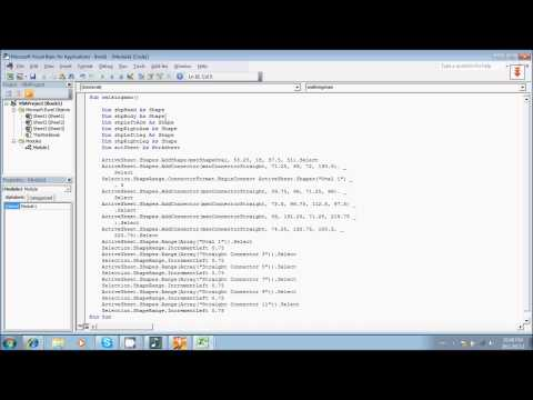 Simple programming tutorial excel vba - walking man example