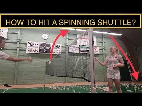BADMINTON TECHNIQUE #30 - HOW TO HIT A SPINNING SHUTTLE?