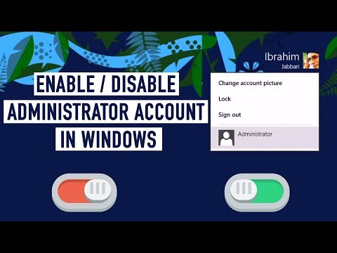 How to enable and disable the Administrator account in Windows 8.1 / Windows 8