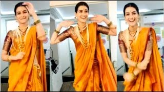 Kriti Sanon's CUTE Video Doing Lavni DANCE On The Sets Of Panipat Movie