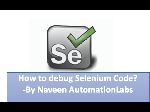 How to debug Selenium Framework Code using Eclipse Debugger
