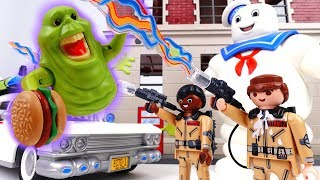 Go PLAYMOBIL Ghostbusters~! Slimer Stay Puft Marshmallow Man