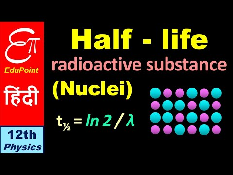 🔴 HALF LIFE of a Radioactive Substance || for Class 12 in HINDI