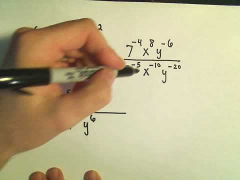 Simplifying Expressions with Negative Exponents - Ex 3