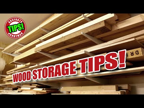 WOOD STORAGE in a Small Workshop AND Makers Central 2018 - GHTL#20 [124]