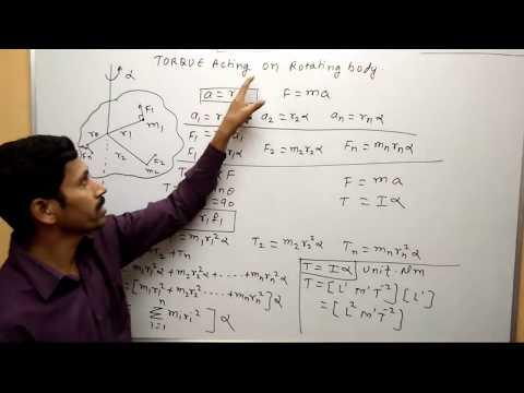 Torque Acting on Rotating body Maharashtra Board Physics Rotational Motion