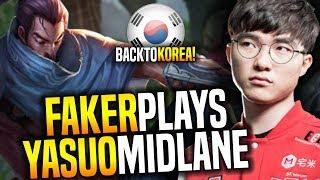 Faker Back to Korea and Plays Yasuo! - SKT T1 Faker SoloQ Playing Yasuo Showing Some Mechanics