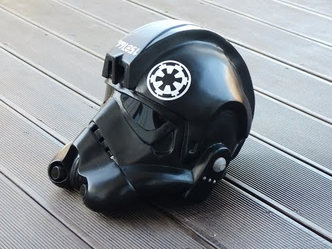 Star Wars, rogue one,  making Tie-Fighter Helmet, Papercraft / Pepakura selber bauen, 66target