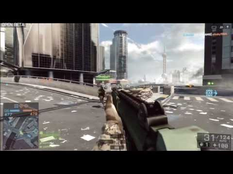 Battlefied 4 Beta (BF4) PlayStation 3 (PS3) Conquest US Win Gameplay