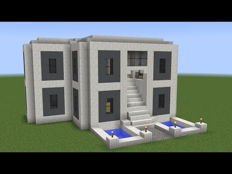Minecraft - How to build a modern mansion 2