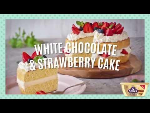 How to Make White Chocolate & Strawberry Cake