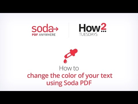 How to change the color of your text using Soda PDF