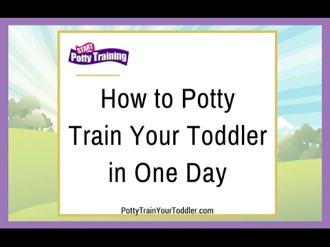 How to Potty Train Your Toddler in One Day