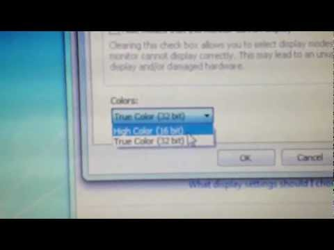 How to change 16 bit screen mode for Windows 7 HD