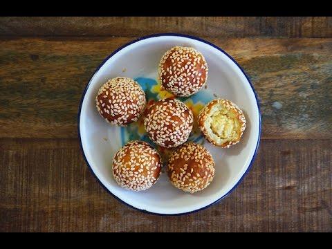 Sweet Potato Balls Filled With Mung Bean Paste