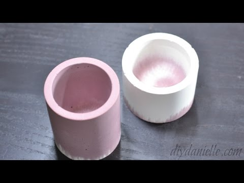 How to Make Concrete Candle Holders for Gifts