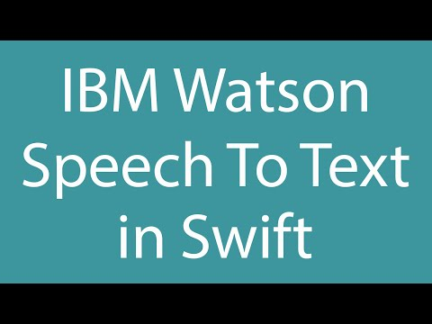iOS Apps & IBM Watson: Using the Speech To Text service in Swift! (+Recording .WAV Files!)