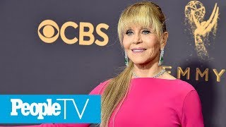 Jane Fonda Dishes On Her Incredible Ponytail At Emmys Red Carpet | PeopleTV
