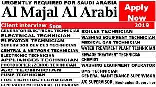 Jobs in Saudi Arabia | Al Majal Al Arabi Company | Vacancy in Large Numbers | Apply now