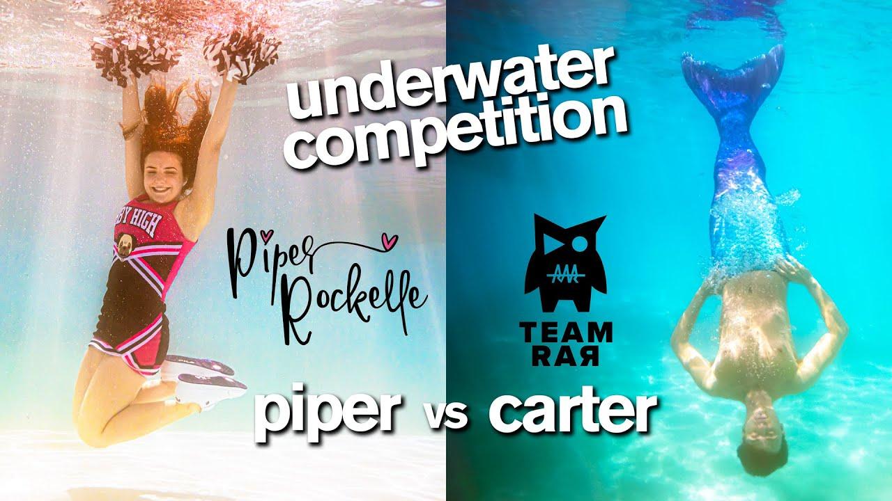Epic Underwater Photo Challenge ft/ Piper Rockelle Squad vs Carter Sharer Team RAR