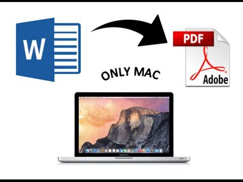 How to convert Word Files into PDF files (Only Mac)