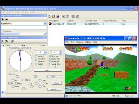 MHS - Memory watching/editing Super Mario 64 Tutorial