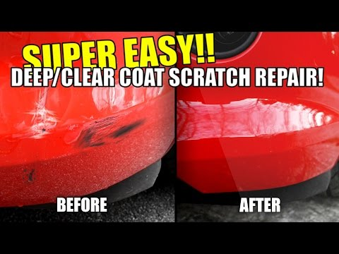 How to Repair Car Scratches in Paint , Deep Scratches & Clear Coat! Super EASY!