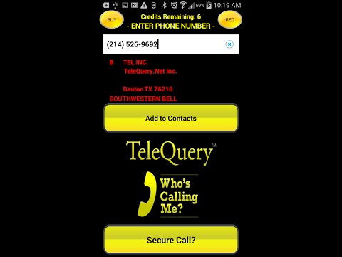 1-800-906-2048 TeleQuery RealCID Who's Calling Me? Caller ID Android
