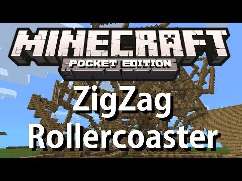 Minecraft PE - [0.9.0] - EPIC: ZigZag Rollercoaster