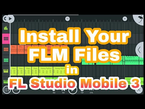 Install FLM Files Sample in FL Studio Mobile 3 Tutorial