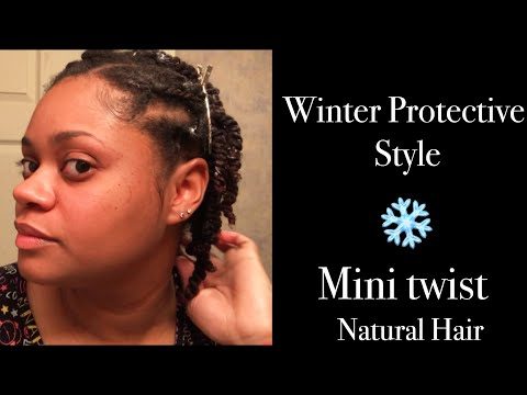 Winter Protective Style | Quick Mini Twist on Natural Hair
