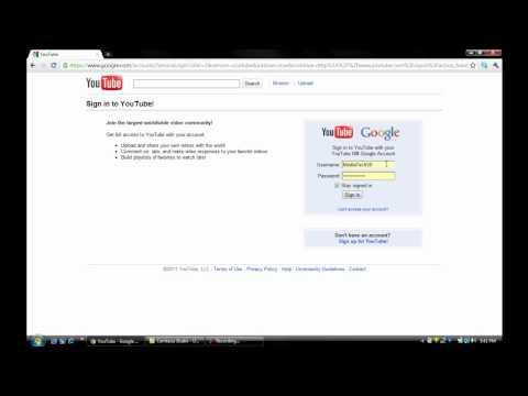 How to log into an old youtube account without verifying google account