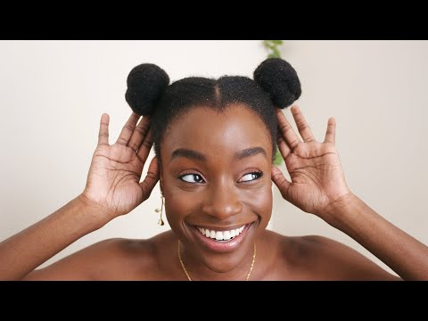 HOW TO SPACE BUNS ON 4C NATURAL HAIR