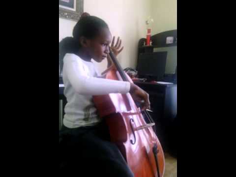 African kid playing cello (9 years old) :-)