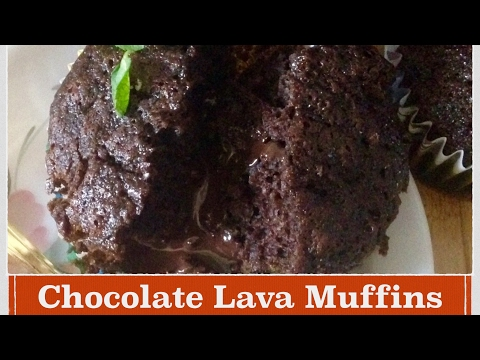 Easy Chocolate molten muffins Recipe | How to make perfect choco lave cup cakes | chocolate fondant