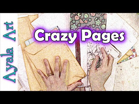 Mixed Media journal pages | Collage art Gelli prints backgrounds