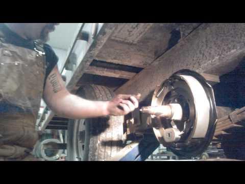 Replacing electric trailer brakes