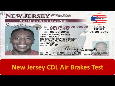 New Jersey CDL Air Brakes Test