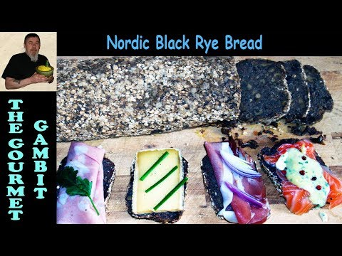 Nordic Black Rye Bread with Walnut and Cranberries