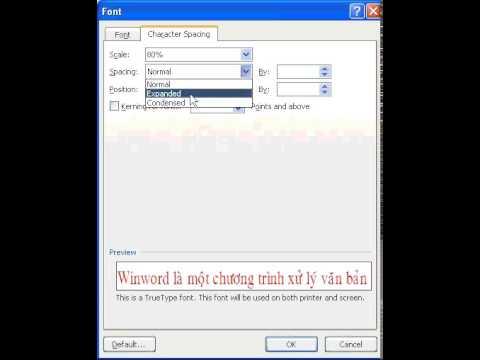 Word2007-012-Character Spacing