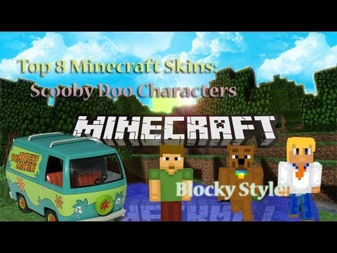 Top 8 Minecraft Skins - Blocky Style Scooby Doo Cartoon Character Skins