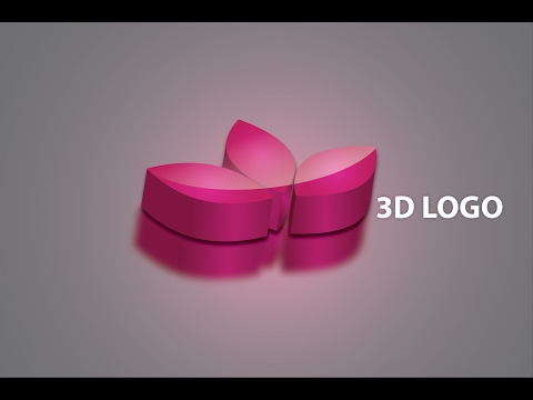 Illustrator 3D logo tutorial adobe CC