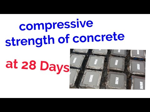 compressive strength of concrete at 28 days