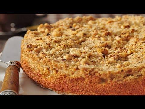 Apple Streusel Cake Recipe Demonstration - Joyofbaking.com