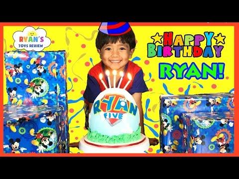 Ryan's 5th Birthday Party Surprise Toys Opening Presents Paw Patrol Egg Surprise Smash Birthday Cake