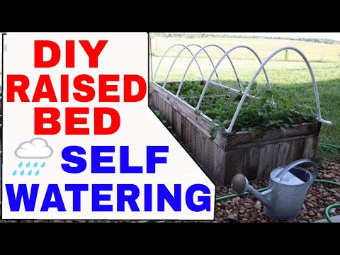 ORGANIC GARDENING--How To Build a Self Watering Hinged Low Tunnel Hoophouse