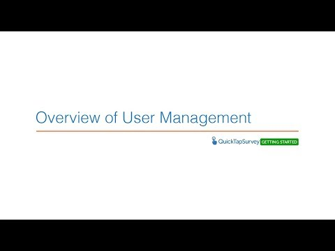 Overview of User Management