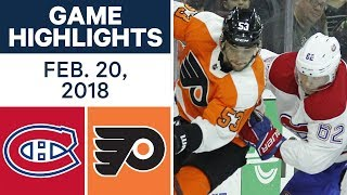 NHL Game Highlights | Canadiens vs. Flyers - Feb. 20, 2018
