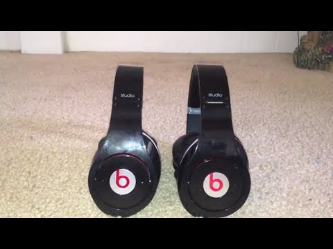 Beats by Dre Studio Real vs. Fake Comparison (NON-MONSTER VERSION)