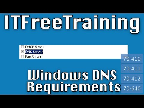 Windows DNS Install Requirements